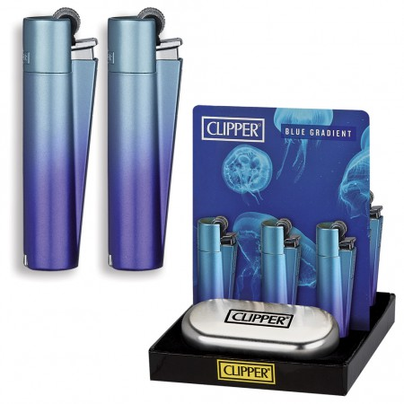 CLIPPER METAL LARGE BLUE GRADIENT