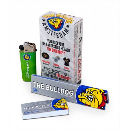 THE BULLDOG KIT ASTUCCIO CARTINA KS + ACCENDINO + FILTRI CARTA