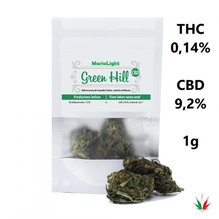 MariaLight GREEN HILL (CBD 9,2%) – Italy Hemp