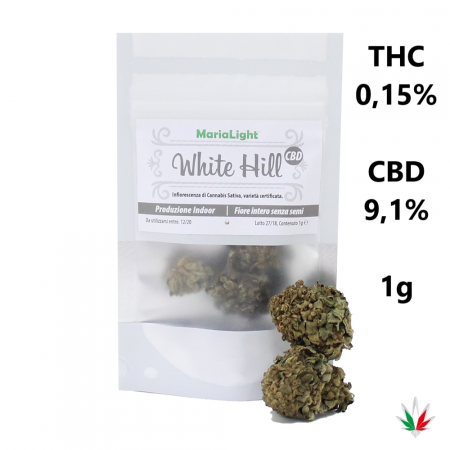 MariaLight WHITE HILL (CBD 9,1%) – Italy Hemp