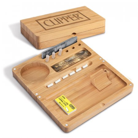 CLIPPER ROLLING TRAY BAMBOO