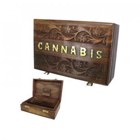 BOX LEGNO PER NASCONDERE & ROLLARE - 22cm x 14cm
