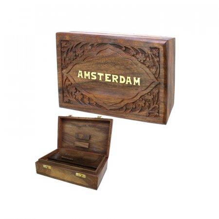 BOX LEGNO PER NASCONDERE & ROLLARE - 20cm x 13cm
