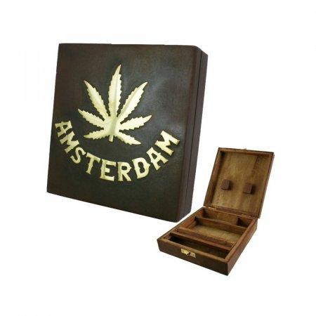 BOX LEGNO PER NASCONDERE & ROLLARE - 17cm x 15cm
