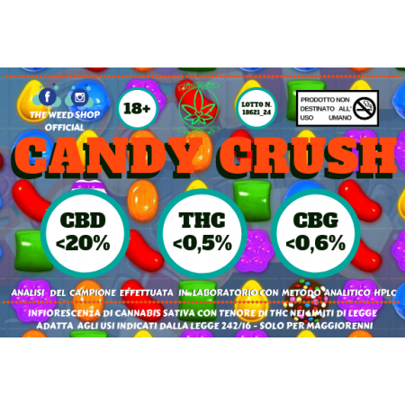 CANDY CRUSH (CBD minore di 20%) - TheWeedShop