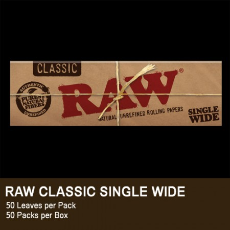 RAW CLASSIC CARTINA CORTA SINGLE WIDE