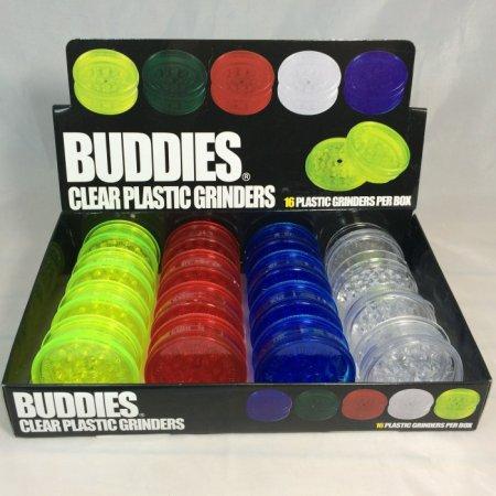 GRINDER PLASTICA BUDDIES 4 Parti 6CM