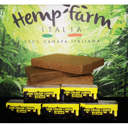 CONI CREAM LEMON hash 2g (CBD 12,80%) - Hemp Farm Italia