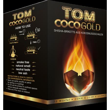 TOM Cococha GOLD - 1KG CARBONCINI NARGHILE' LEGNO DI COCCO